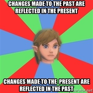 Confused Link - changes made to the past are  reflected in the present changes made to the  present are reflected in the past