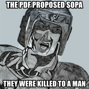 PDF Trooper - The pdf proposed SOPA They were killed to a man