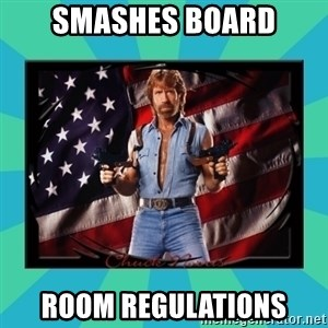 No Respect Norris - Smashes Board room regulations