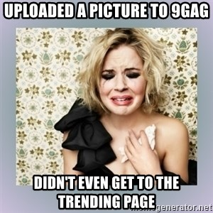 Crying Girl - Uploaded a picture to 9gag didn't even get to the trending page