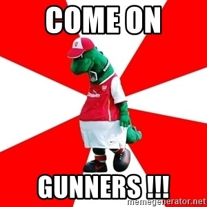 Arsenal Dinosaur - come on  gunners !!!