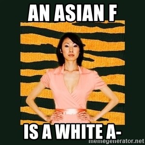 Tiger Mom - an ASIAN F IS A WHITE A-