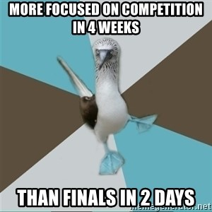 Destination Imagination Derp Bird - More focused on competition in 4 weeks  than finals in 2 days