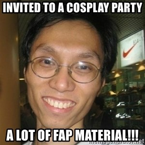 Asian Otaku - invited to a cosplay party a lot of fap material!!!