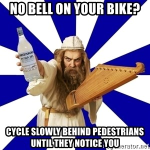 FinnishProblems - no bell on your bike? cycle slowly behind pedestrians until they notice you