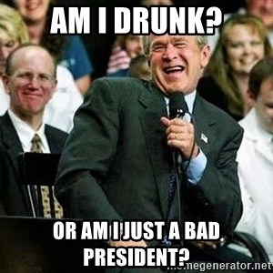 Laughing Bush - am i drunk? or am i just a bad president?