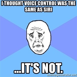 Okay Guy - I thought voice control was the same as siri ...it's not.