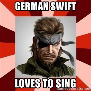 GERMAN SWIFT - German swift loves to sing