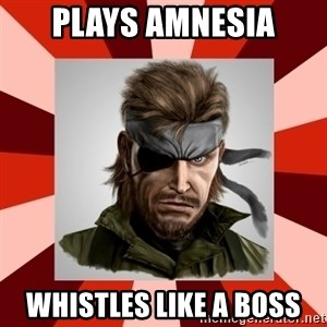 GERMAN SWIFT - Plays amnesia whistles like a boss