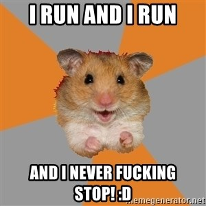 hamster seiyuulover - I run and I run And I never fucking stop! :D