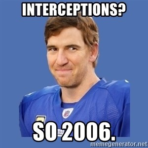 Eli troll manning - interceptions? so 2006.