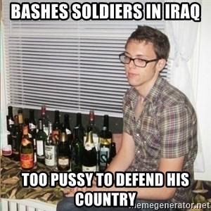 Morally Superior Ryan - BasHes soldiers in Iraq Too Pussy to defend hiS country
