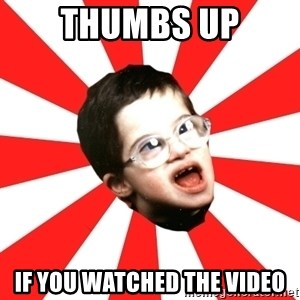 Average YouTube Lover - thumbs up if you watched the video