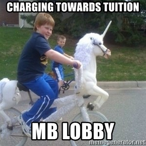 unicorn - Charging towards Tuition MB lobby
