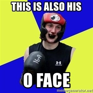 boxing logan - this is also his o face