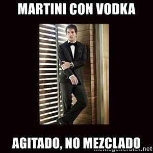 BondMessi - Martini con vodka Agitado, no mezclado