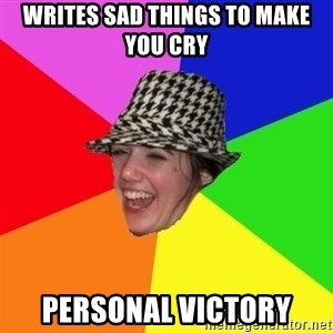 Scumbag Simone - WRITES SAD THINGS TO MAKE YOU CRY PERSONAL VICTORY