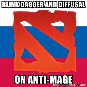 Dota2 Russian - blink dagger and diffusal on anti-mage
