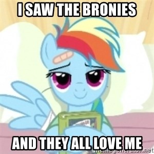 Cute Book Holding Rainbow Dash - i saw the bronies and they all love me