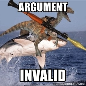 raptor shark - ARGUMENT INVALID