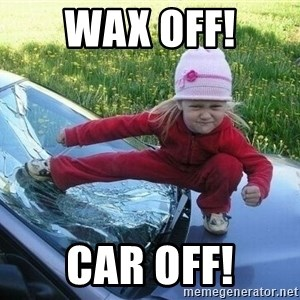 Angry Karate Girl - Wax Off! Car Off!