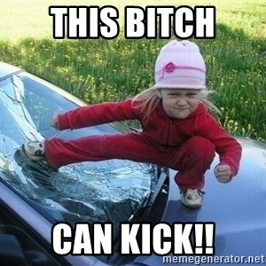 Angry Karate Girl - This Bitch Can Kick!!