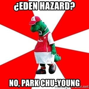 Arsenal Dinosaur - ¿Eden Hazard? no, Park chu-young