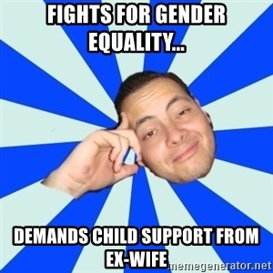 Carlostóteles - Fights for gender equality... demands child support from ex-wife
