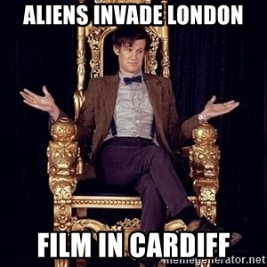 Hipster Doctor Who - aliens invade london film in cardiff