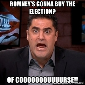 Angry Cenk - Romney's gonna buy the election? of cooooooouuuurse!!