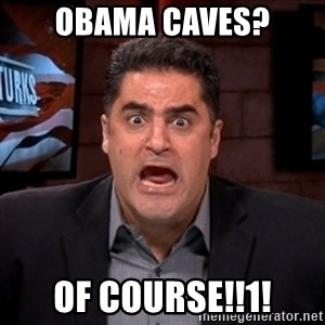 Angry Cenk - obama caves? Of course!!1!
