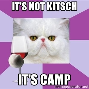 Art History Major Cat - IT'S NOT KITSCH IT'S CAMP