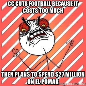 iHate - CC cuts football because it costs too much then plans to spend $27 million on el pomar