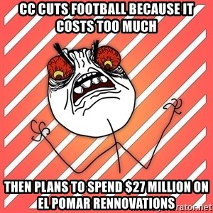 iHate - cc cuts football because it costs too much then plans to spend $27 million on el pomar rennovations