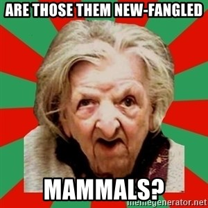 Crazy Old Lady - ARE THOSE THEM NEW-FANGLED MAMMALS?