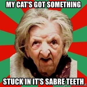 Crazy Old Lady - MY CAT'S GOT SOMETHING STUCK IN IT'S SABRE TEETH