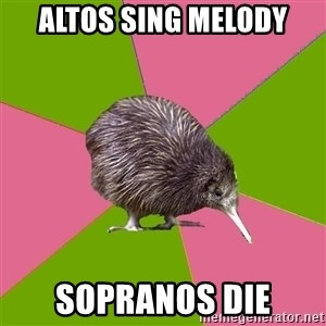 Choir Kiwi - altos sing melody sopranos die