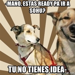 Stoner dogs concerned friend - -mano, estas ready pa ir a sohu? tu no tienes idea-