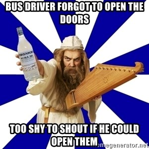 FinnishProblems - Bus driver forgot to open the doors too shy to shout if he could open them