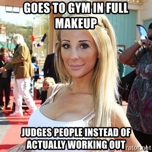 typical moscow girl2 - Goes to gym in full makeup judges people instead of actually working out