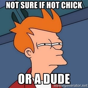 Futurama Fry - NOT SURE IF HOT CHICK OR A DUDE
