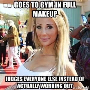 typical moscow girl2 - Goes to gym in full makeup judges everyone else instead of actually working out