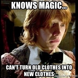 Magic World Problems - knows magic... can't turn old clothes into new clothes