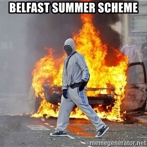 London Riots - Belfast summer scheme