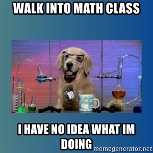Chemistry Dog - Walk into math class I have no idea what im doing