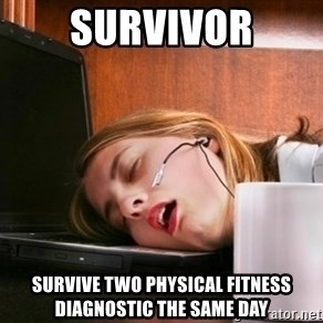 Freelancer  - survivor SURVIVE TWO PHYSICAL FITNESS DIAGNOSTIC THE SAME DAY