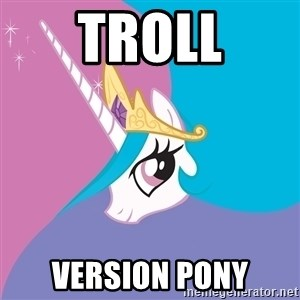 Celestia - troll version pony