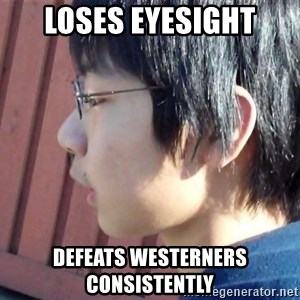 Asian Starcraft kid - loses eyesight defeats westerners consistently