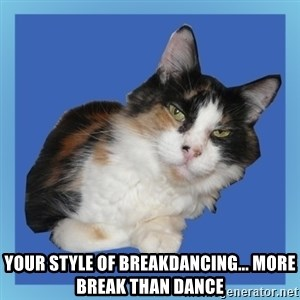 Sees It All Cat - your style of breakdancing... more break than dance