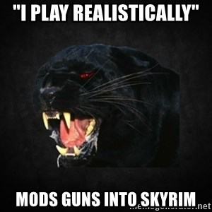 "Roleplay Panther - ""I play realistically"" Mods guns into Skyrim"